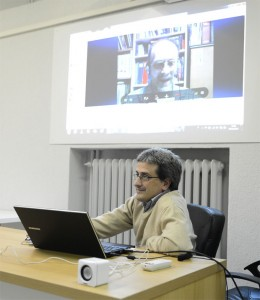 Enrico Colombini via Skype in videochat per Text Adventure Day al Vigamus