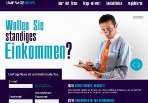 la home page del sito UmfrageNews.com