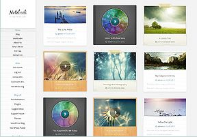 "tema WordPress ""Notebook"" di Elegant Themes"