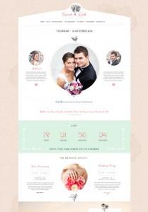 esempio di tema WordPress ispirato al matrimonio