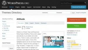 Uno dei temi WordPress gratuiti sul sito ufficiale