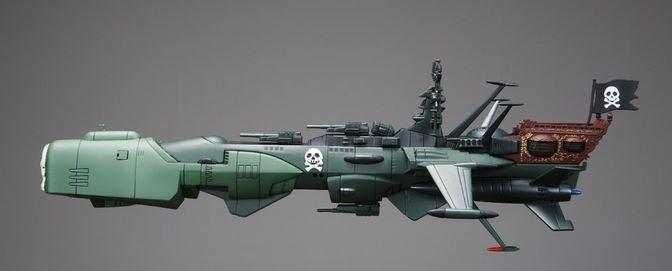 Modellino dell'astronave Arcadia di Capitan Harlock