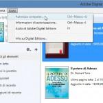 opzione per autorizzare il computer dopo l'installazione di Adobe Digital Edition