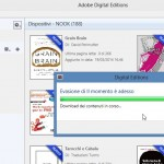 Adobe Digital Edition mentre carica l'ebook in formato ePub