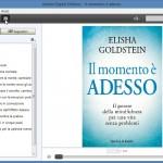 i contenuti e la copertina dell'ebook appena caricato da Adobe Digital Edition