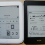 lettori ebook Nook e Kindle affiancati