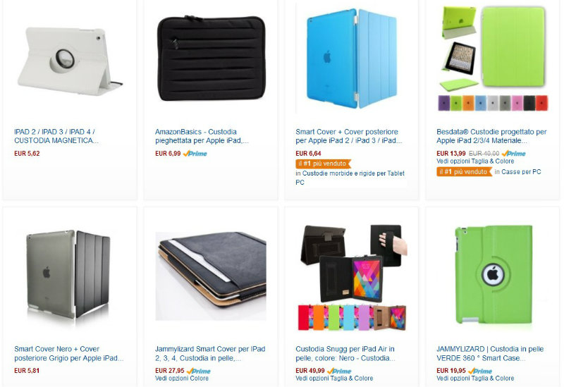 Assortimento di custodie per iPad su Amazon
