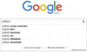 google suggest ricerche per PDFITALY