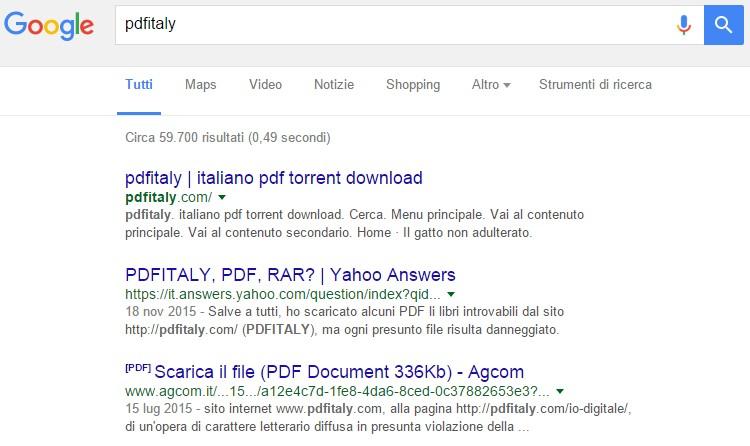 risultati delle ricerche per pdfitaly.com