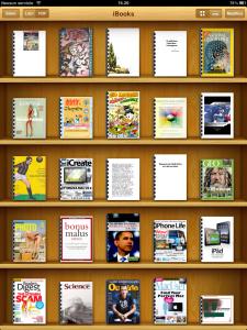 Una delle mie 'biblioteche' di test sull'iPad