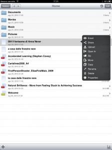 Un esempio di gestione di file e cartella con un'app di terze parti